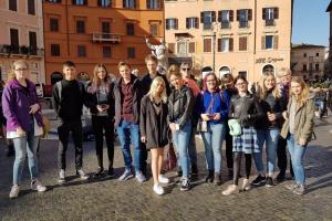 No 4. līdz 8.februārim audzēkņi piedalījās izzinošajā ceļojumā «Iepazīsti Romu un Vatikānu»