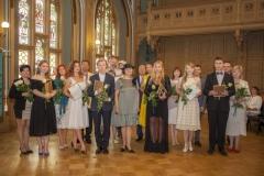 Rīgas Komercskola absolventi ar savām ģimenēm