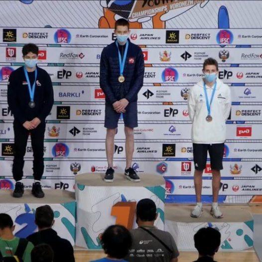 Edvards Gruzītis Pasaules čempions jauniešiem kāpšanas sportā!