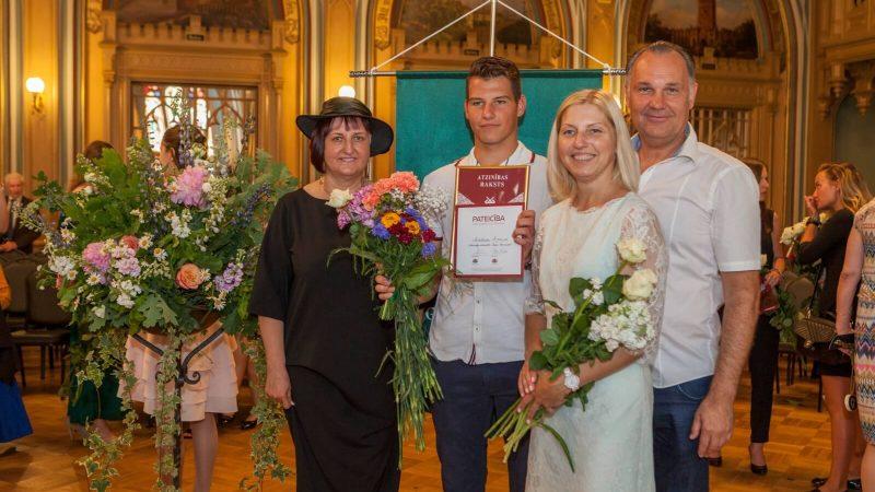 Martiņš Rocēns saņēmis Latvijas simtgades izcilnieka pateicību par sasniegumiem mācībās un sportā