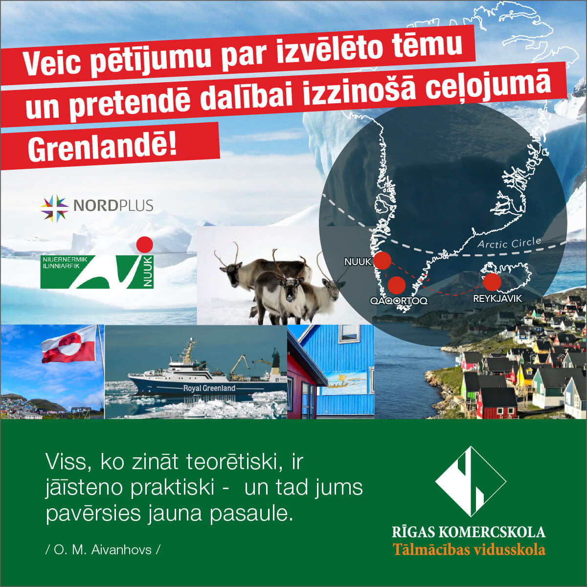 Pētījuma tēmas Rīgas Komercskolas projekta Nordplus-2020