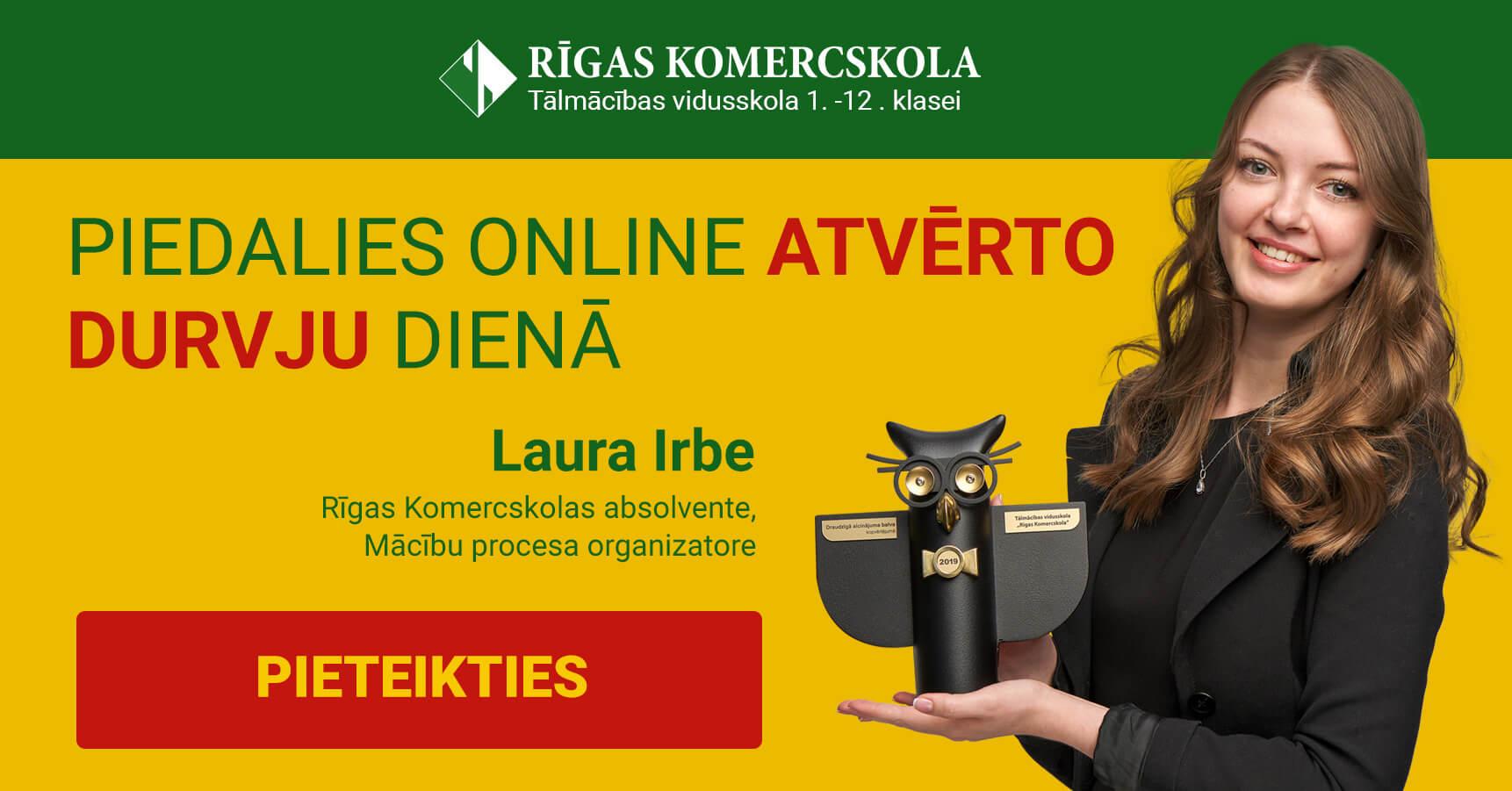 Piedalies Online atvērto durvju dienā Rīgas Komercskolā