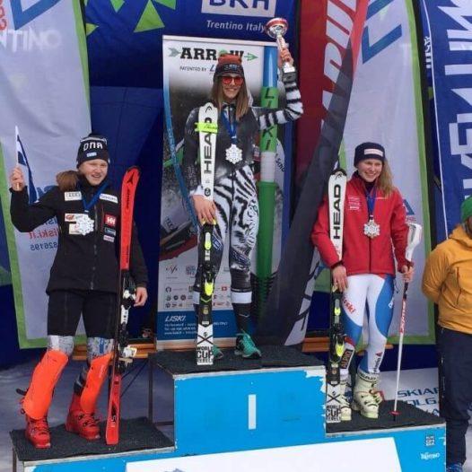 Dženifera Ģērmane ieguva 1.vietu U16 grupā slaloma disciplīnā