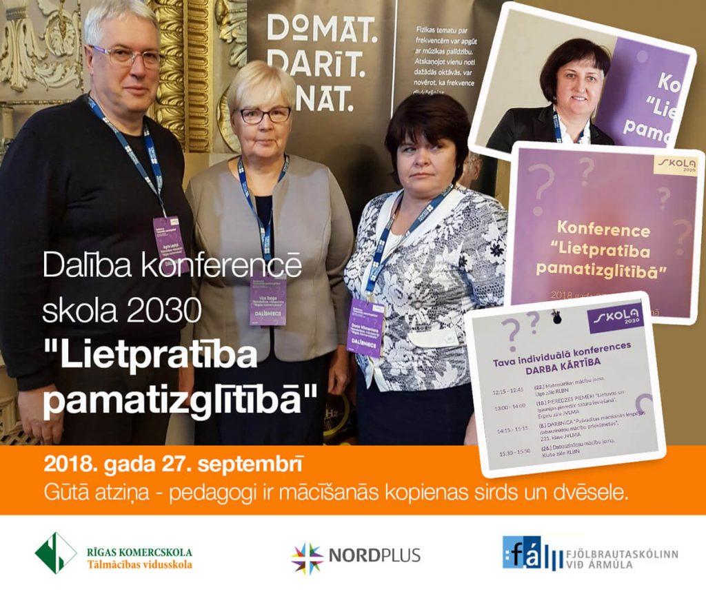 Dalība konferencē skola 2030 «Lietpratība pamatizglītībā»