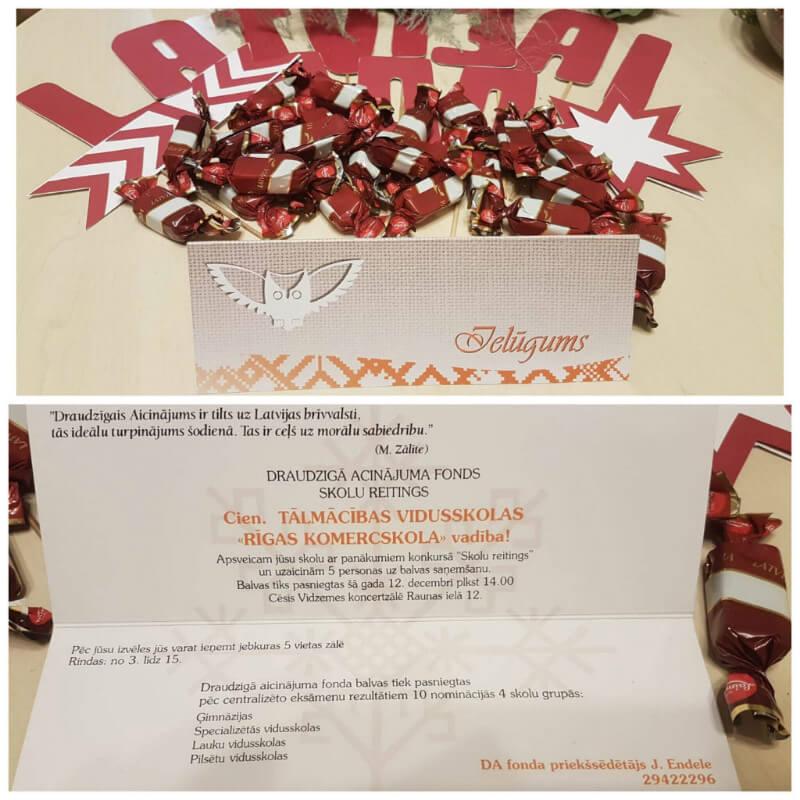 Draudzīgā aicinājuma fonda balvas pasniegšana - ielūgums
