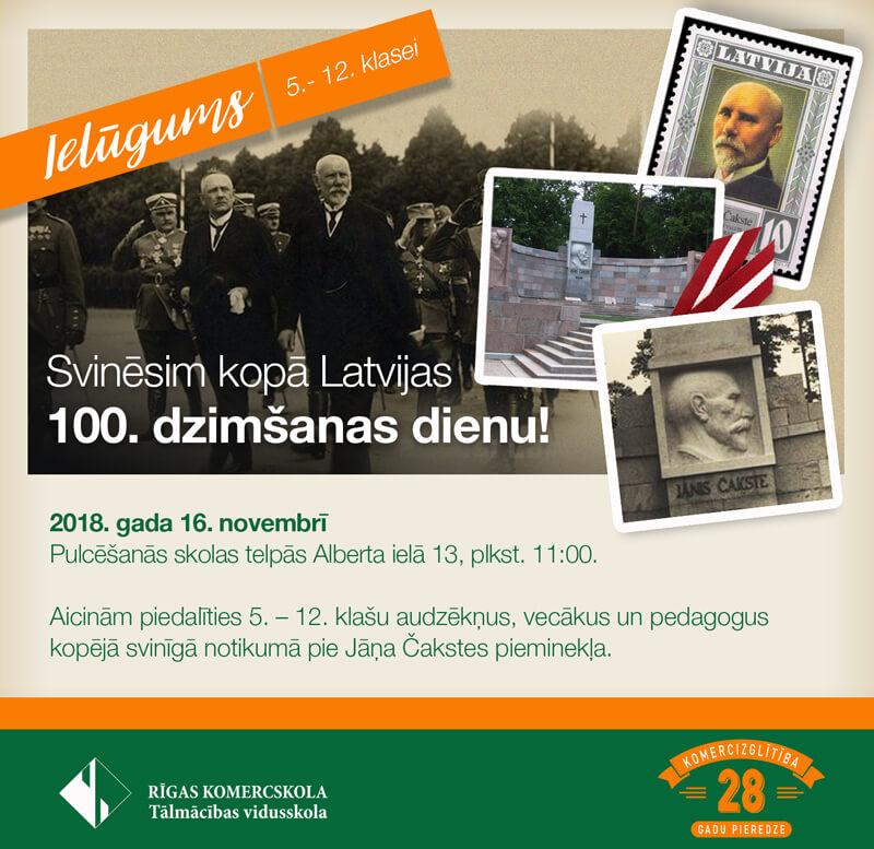 Svinēsim kopā Latvijas 100. dizimšanas dienu!