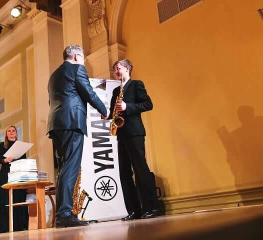 Gustava Jākobsona 2. vieta konkursā «Saxophonia»
