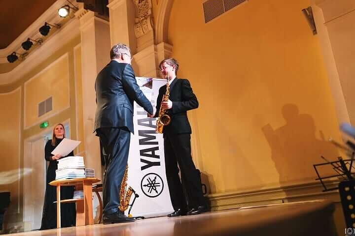 """Gustava Jākobsona 2. vieta konkursā """"Saxophonia"""""""