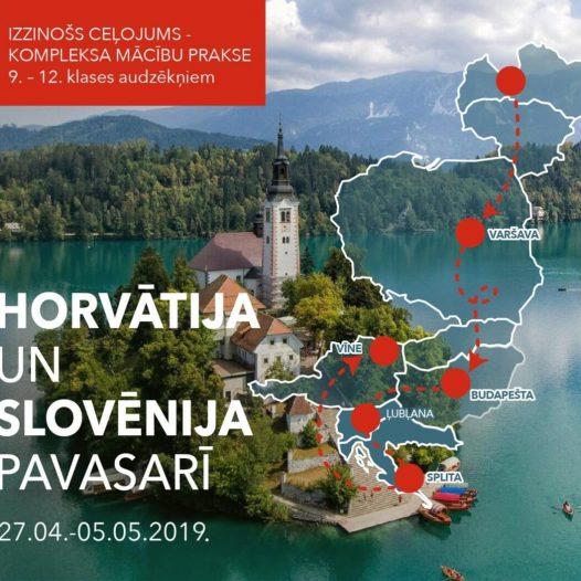 Izzinošs ceļojums – mācību prakse Horvātijā un Slovēnijā pavasarī