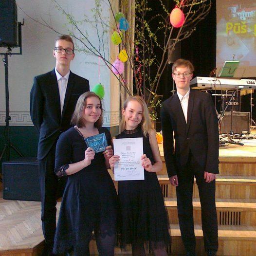 Gustava Jākobsona 1. vieta mūzikas skolu konkursā «Pūš pa deviņ'»