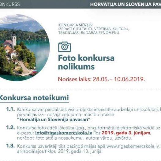 """Foto konkurss """"Horvātija un Slovēnija pavasarī"""""""