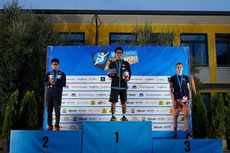 Edvardam Gruzītim 3. vieta Pasaules čempionātā jauniešiem Kāpšanas sportā