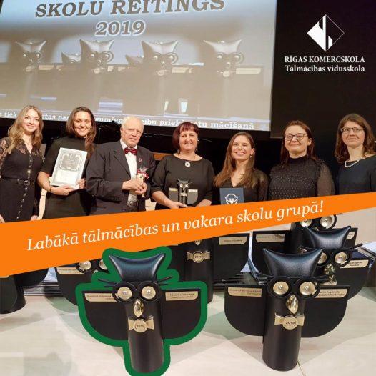 Skolu reitings 2019 – Rīgas Komercskolas apbalvošana
