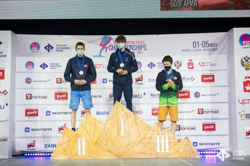 Latvijai sudrabs - Edvards Gruzītis izcīnīja 2.vietu Eiropas čempionātā jauniešiem, boulderinga disciplīnā.