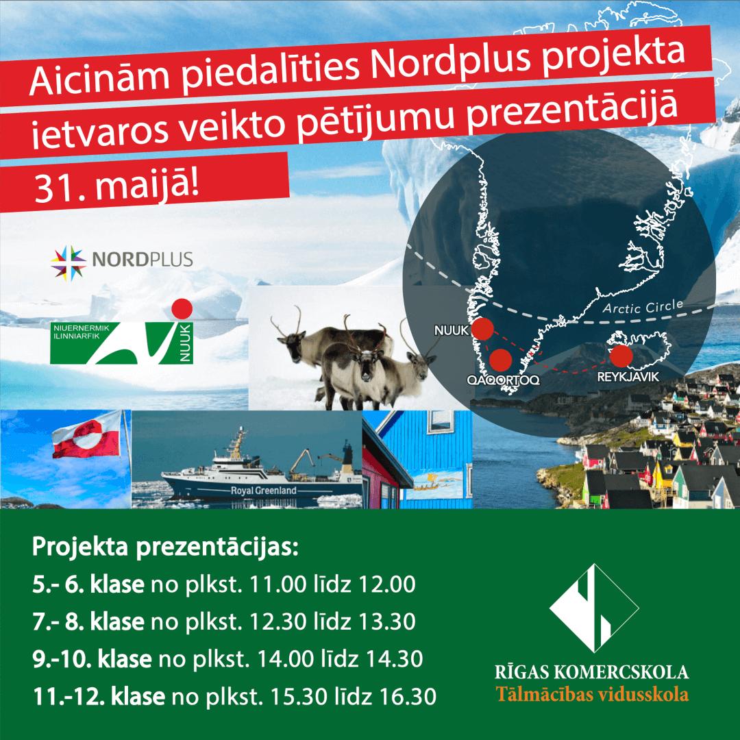 Nordplus projekta prezentācijas 2021. gada 31. maijā